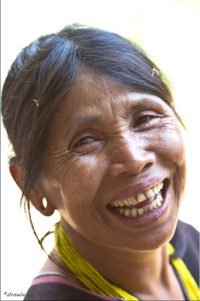 Middle-Aged Karen Woman smiiling