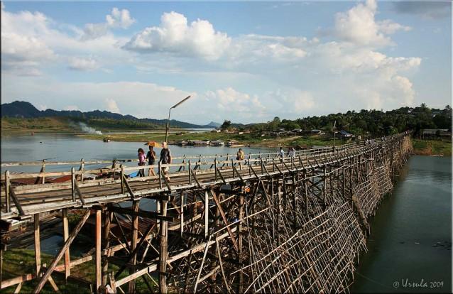 Rickety wooden foot-bridge