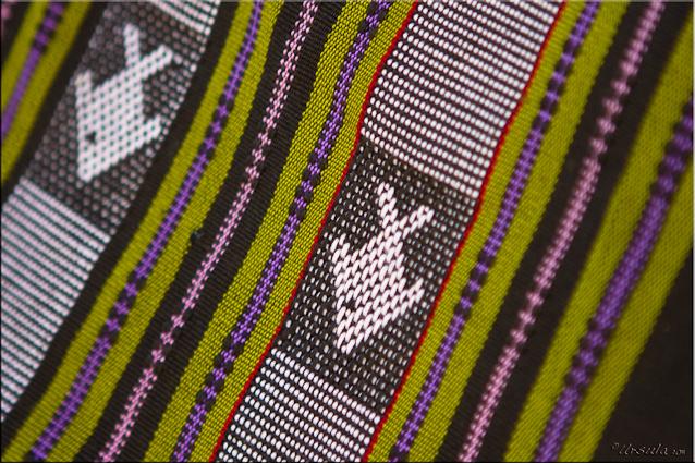 Woven cotton fabric - fish design