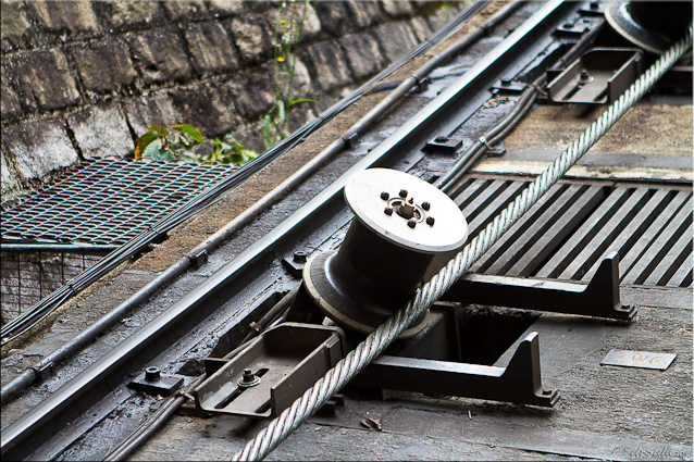 Detail: Cable Guide on the Funicular Track