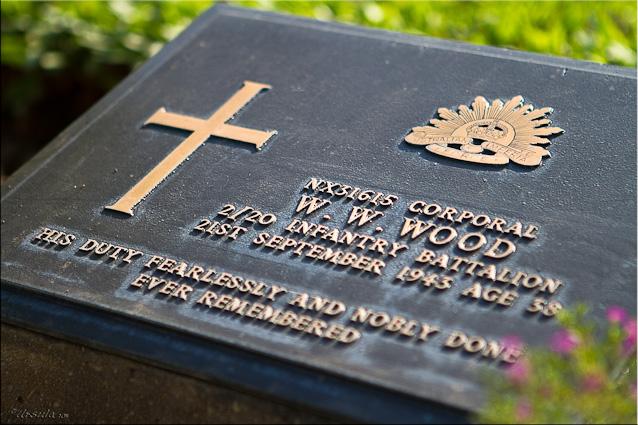 Headstone: Corporal W W Wood