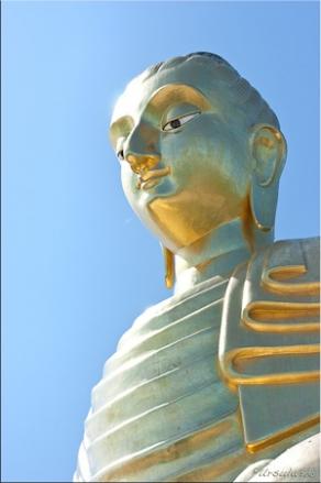Golden Buddha image, Wat Thang Sai, Prachuapkhirikhan