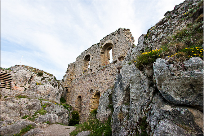 Inside the ruins of a French medieval fortress