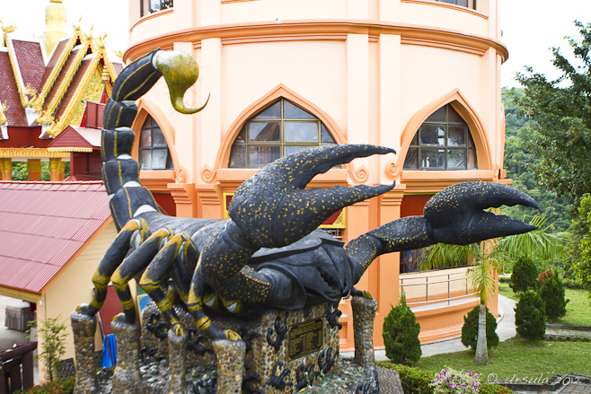 Giant sculpture of a scorpion, Mae Sai.