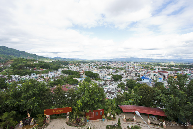 View over Mae Sai and Tachilek to the hills of Myanmar.