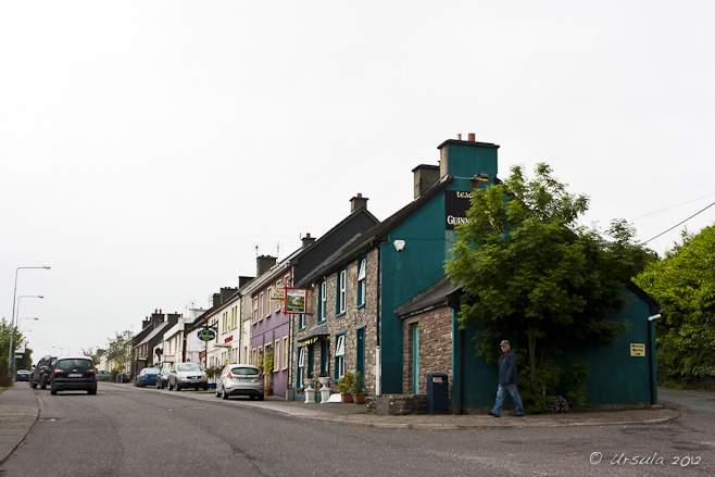 The row houses of Annascaul, Dingle Peninsula, Ireland.