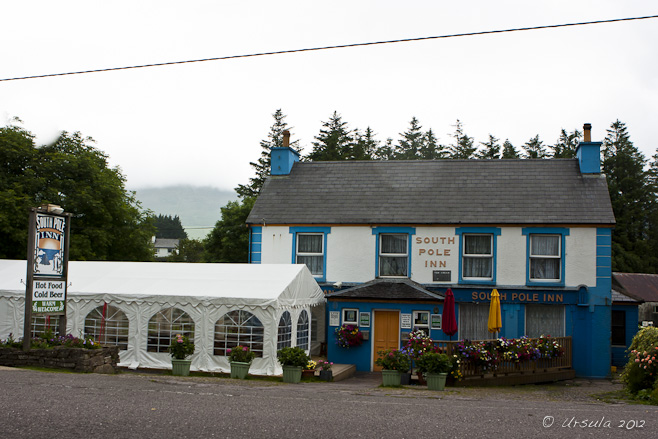 South Pole Inn, Annascaul, with a tented marquee out the front.