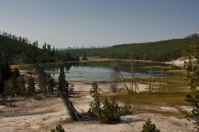 Small lake, Artists Paintpots, Yellowstone NP