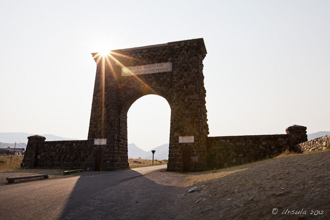 Roosevelt Arch at Yellowstone