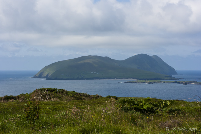 View to the Blaskets from Cruach Mharthain, Dingle, Ireland