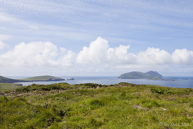 Landscape: View to Dunmore Head and the Blaskets from Cruach Mharthain