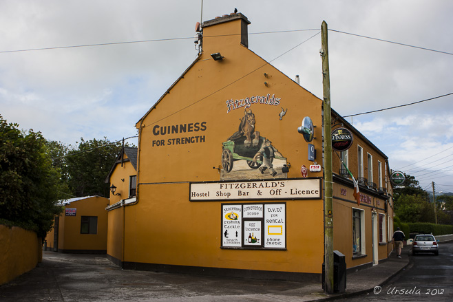 The side of Fitzgeralds Pub, Castlegregory, Dingle Peninsula, Ireland