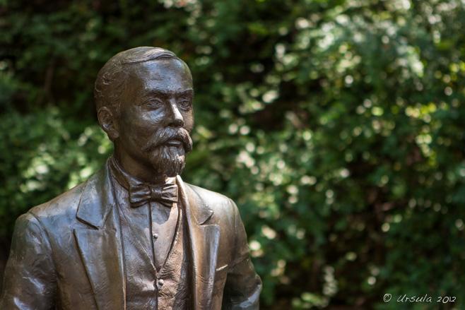 Jack Daniels sculpture, Jack Daniels Distillery, Lynchburg, Tennessee