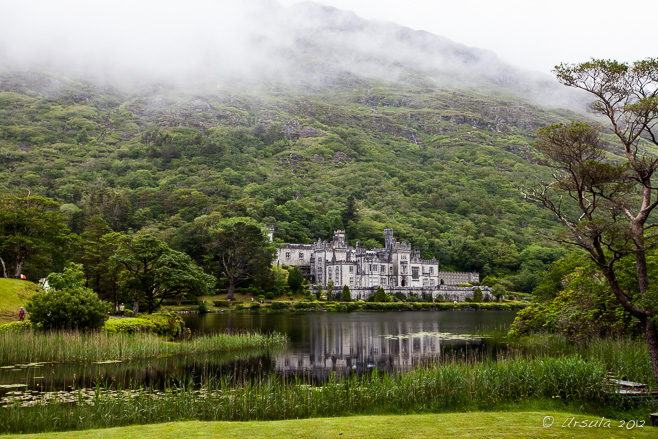 View of Kylemore Abbey, Galway Ireland