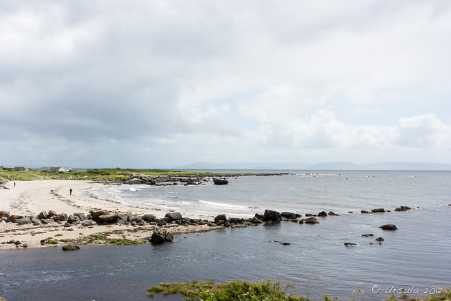 View over Galway Bay on an overcast day.