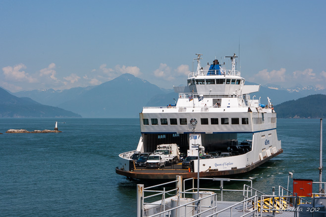 The Queen of Capilano, a car ferry, Horseshoe Bay, BC.