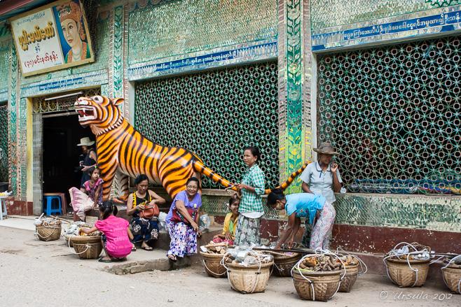 Front of the Mahagiri Shrine, Mount Popa, Myanmar