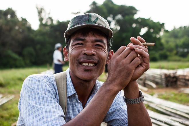 Portrait of a Burmese Man with a Cheroot, Thaung Tho, Myanmar