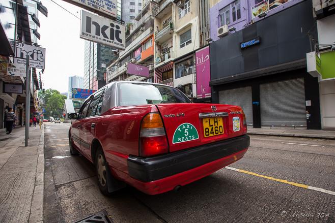 Hong Kong Taxi, Tsim Sha Tsui Street, Kowloon