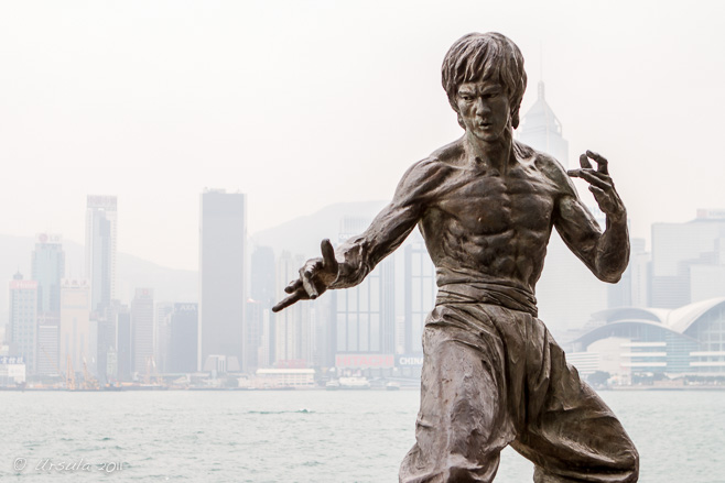 Statue of Bruce Lee on the Avenue of Stars in Tsim Sha Tsui, Hong Kong
