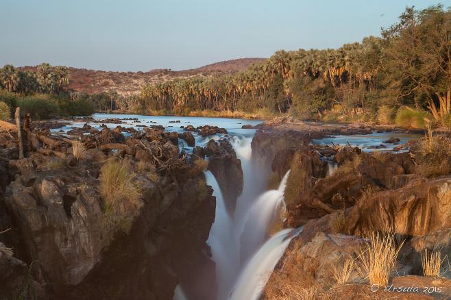 Slow exposure of the top of Epupa Falls, Kunene Namibia