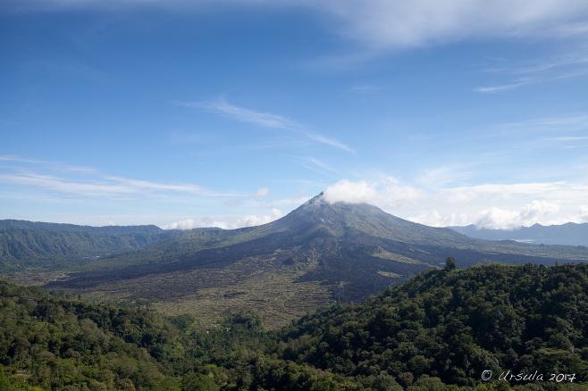 View over Mount Batur from Penelokan, Bali
