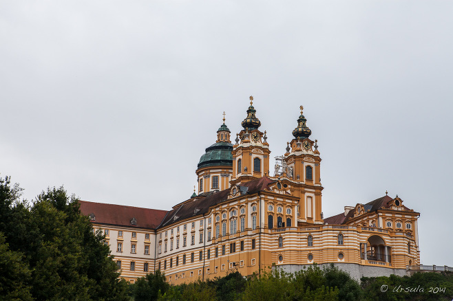 Stift Melk, Melk Abbey from Below, Austria