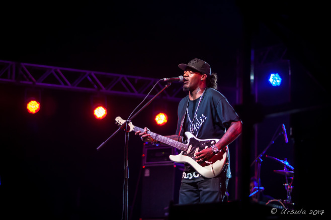 Guitarist Eric Gales, Bluesfest 2017 Byron Bay AU