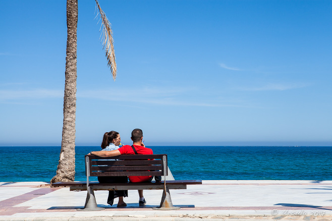 Lovers on a Bench, Playa Albir, Alicante Spain