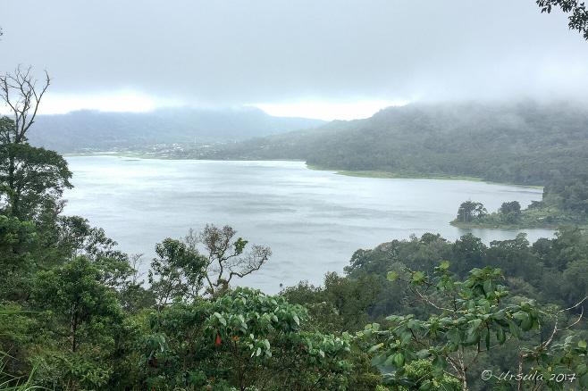 Overlooking Lake Buyan in the rain, Bali