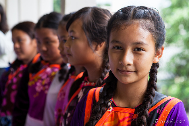 Portrait of Lisu Girls, Chiang Mai District Thailand