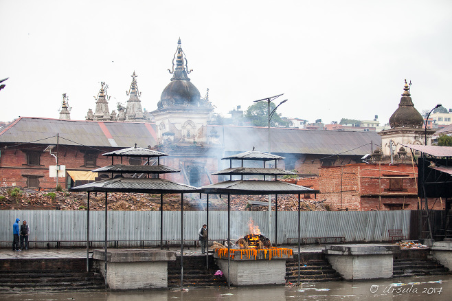 Burning Ghats on the Bagmati River, Pashupatinath Nepal