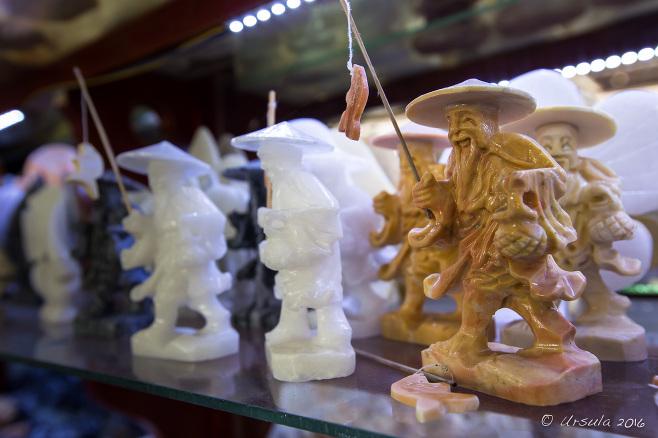 Marble Carvings of Vietnamese fishermen, Non Nuoc Village shop, Vietnam