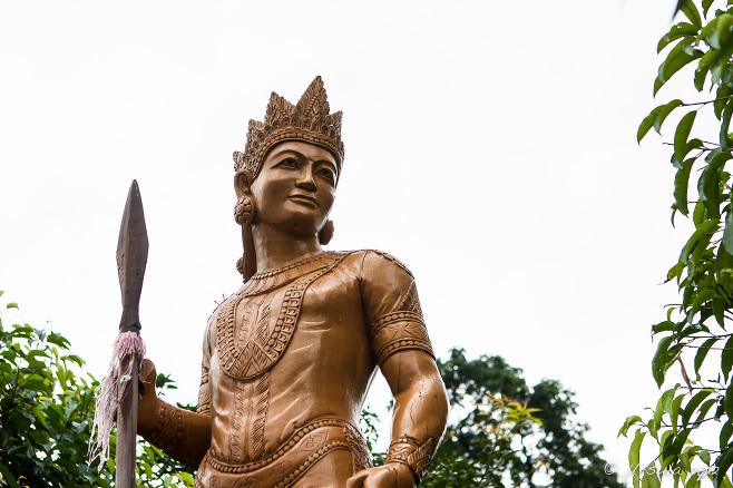 Golden statue, Kandawgyi Lake, Yangon Myanmar