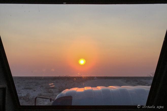 Sunrise, Etosha National Park, Namibia