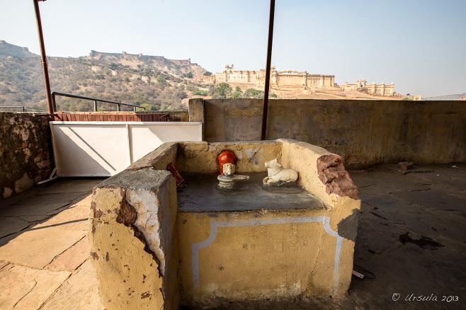 Hindu shrine opposite Amer Fort, Jaipur India